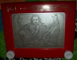 The Prince of Lies - Etch-A-Sketched by Carol Riggs